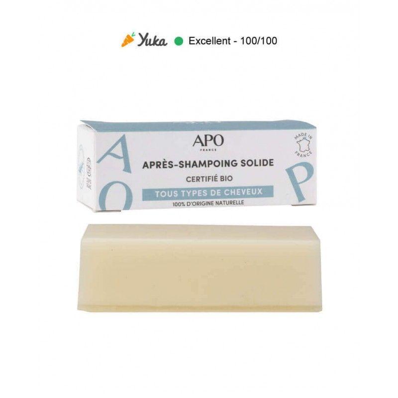 Après-shampoing solide APO - barre démêlante APO - 1