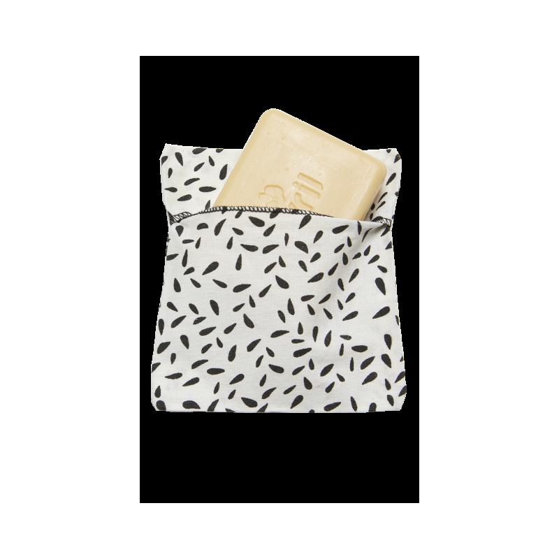 Pochette à savon coton bio enduit Avril - 1