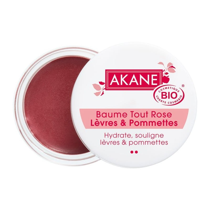 Baume tout rose Lèvres et Pommettes Certifié BIO Akane Akane - 1