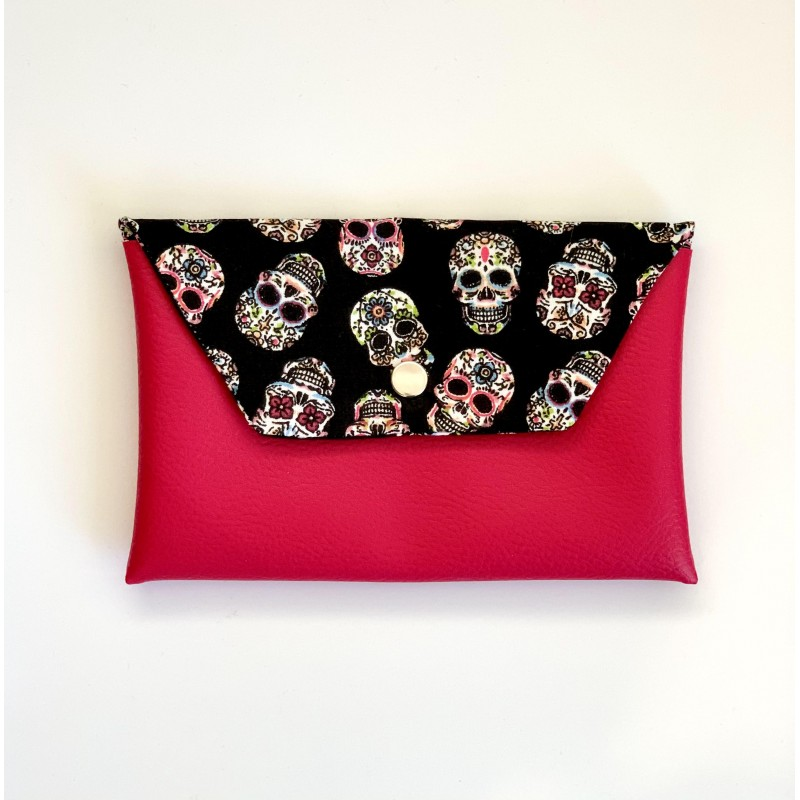 Pochette à accessoires JoliZados Rose et Têtes de mort Jolizados - 1