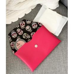 Pochette à accessoires JoliZados Rose et Têtes de mort Jolizados - 2
