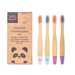 Brosses à dents enfants Bambou - Wild&Stone WILD&STONE - 2