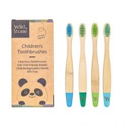 Brosses à dents enfants Bambou - Wild&Stone WILD&STONE - 1