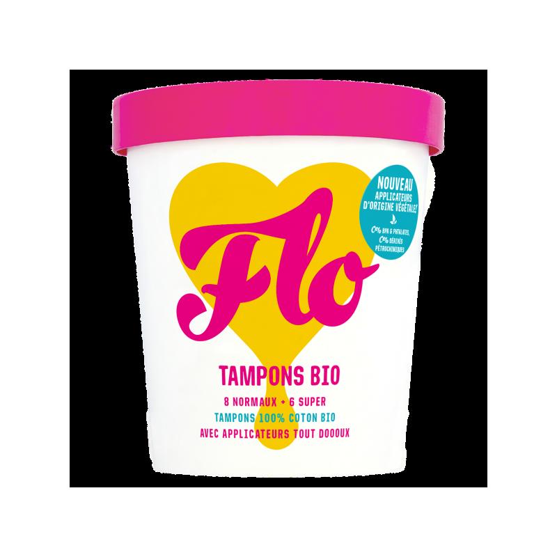 Tampons en coton bio avec applicateur Flo Flo - 1