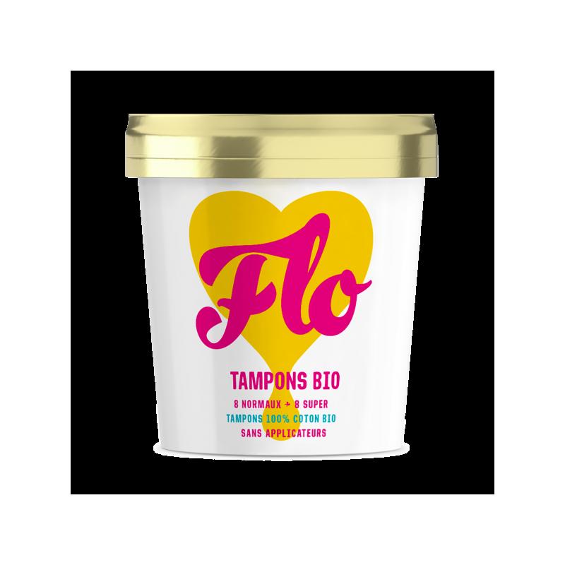Tampons en coton bio sans applicateur bio Flo Flo - 1